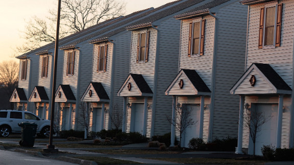 Military housing, like these, at Fort Hamilton, New York City's only active-duty military base, could become available to same sex couples serving in the military.
