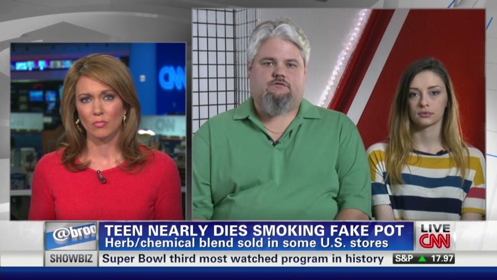 Teen nearly dies smoking fake pot
