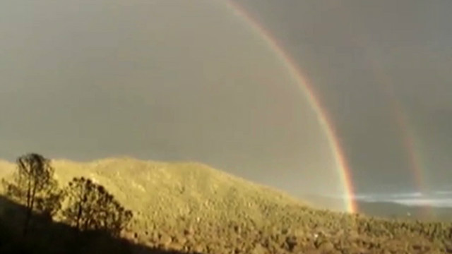 "The double rainbow in California witnessed by Paul ""Bear"" Vasquez on a YouTube video that went viral."