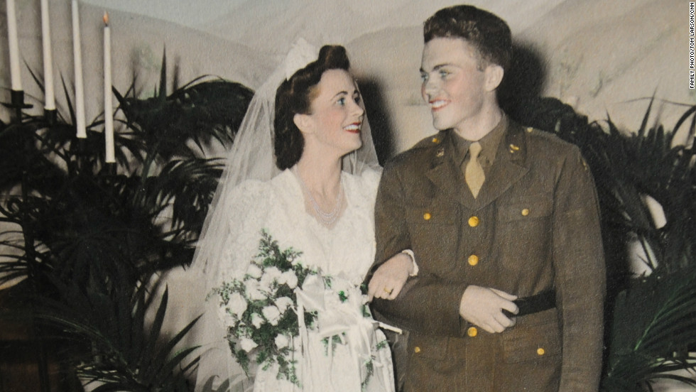 They wed on December 31, 1942, just about a year after the attack on Pearl Harbor that drew the United States into World War II.