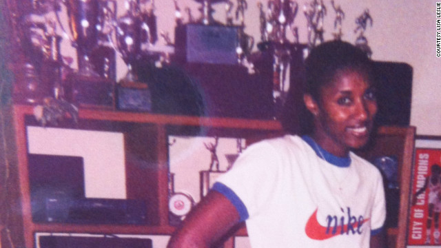 Lisa Leslie as a young, award-winning athlete