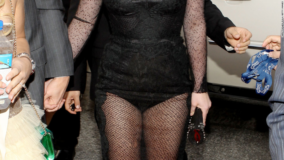 In 2010, Britney Spears hit the red carpet wearing a sheer black number.