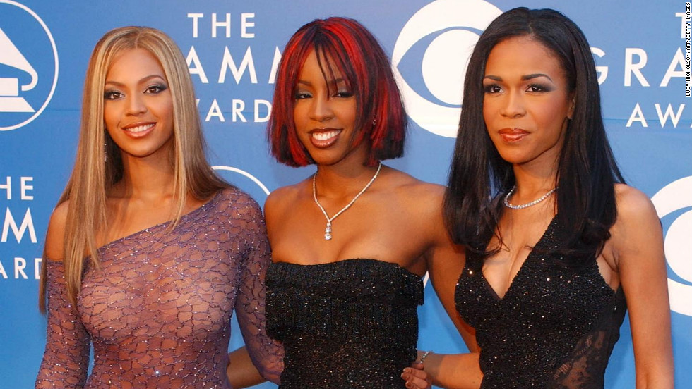Destiny's Child arrived at the Grammys in 2002 wearing their signature matching looks -- although in a bit of foreshadowing, Beyonce, left, opted to stand out from the pack.