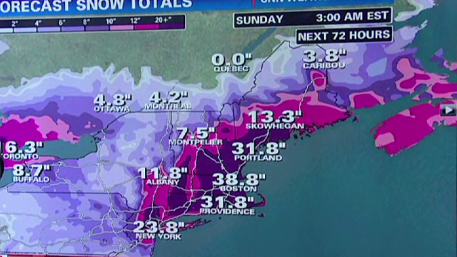 New York, Boston brace for blizzard