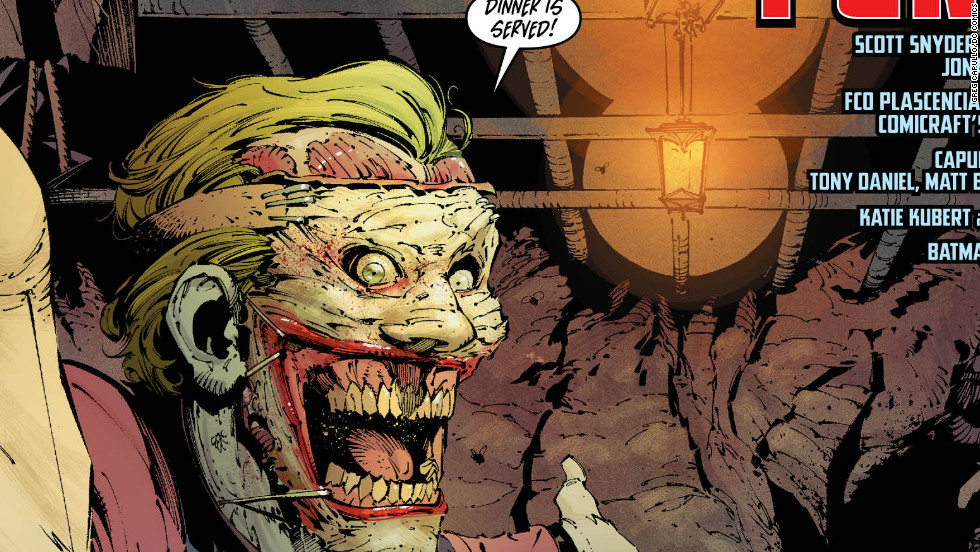 "Joker's grotesque new look -- in which his face has been removed and then reattached -- was first seen in 2011's ""Detective Comics"" #1."