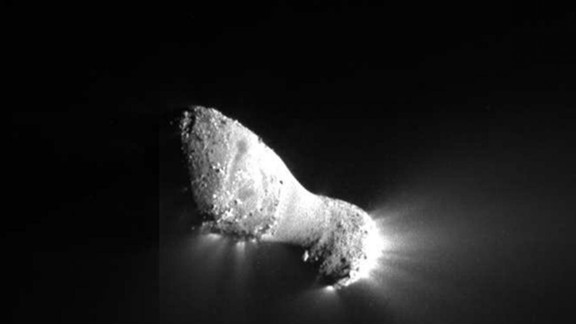 This close-up view of Comet Hartley 2 was taken by NASA
