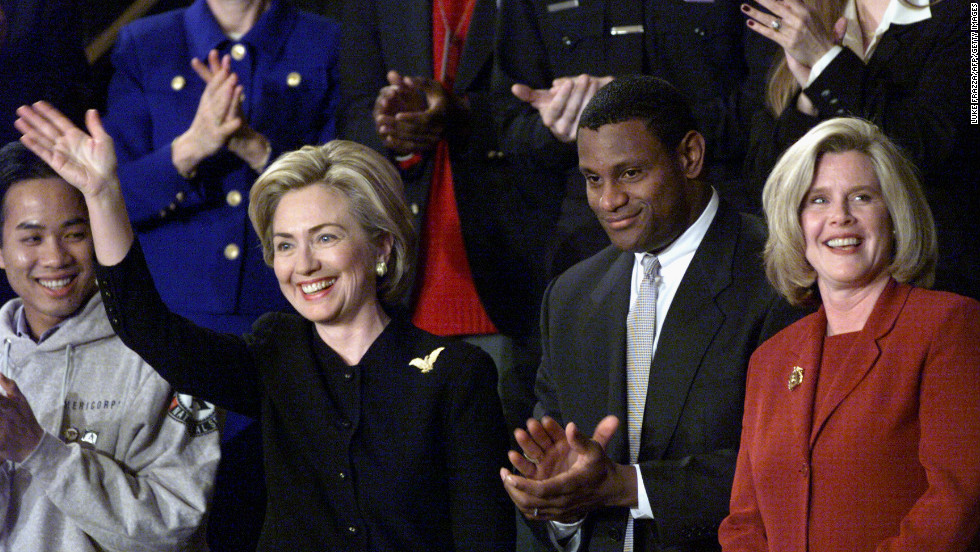 Another baseball star, Sammy Sosa, was honored at Clinton's 1999 address.