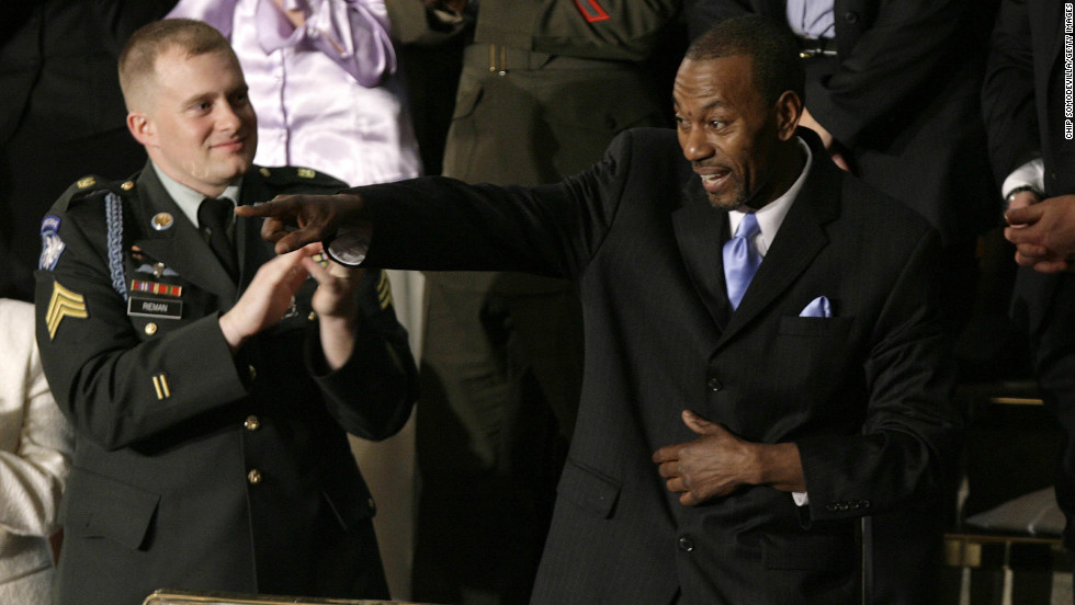 Wesley Autrey, who risked his life to save a man who had fallen onto the tracks of a New York City subway, was President George W. Bush's guest at the 2007 State of the Union.