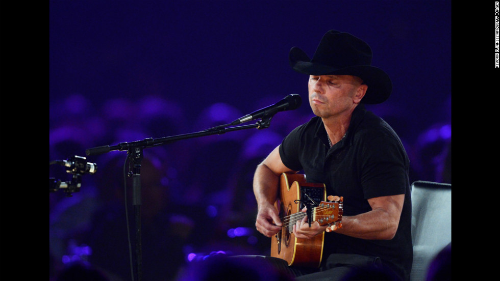 "Singer Kenny Chesney performs ""One Step Up."""