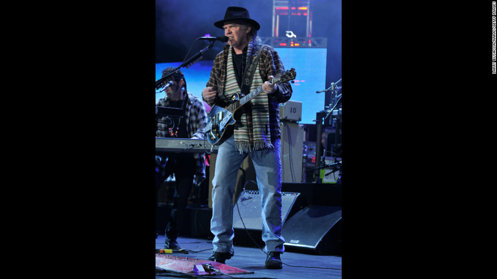 "Neil Young performs ""Born in the USA."""