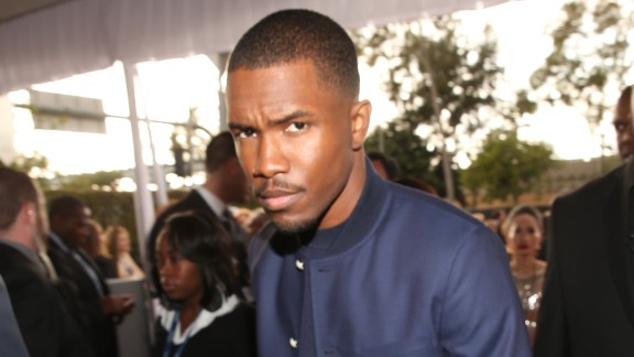 January 2013: Los Angeles detectives investigated a brawl allegedly involving Brown and singer Frank Ocean, pictured, at a West Hollywood recording studio on January 27. Witnesses said Brown punched a man, a sheriff's statement said. No charges were filed, but the incident was included months later when a prosecutor sought to have Brown's probation revoked.