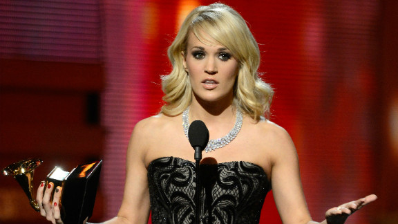 """Carrie Underwood won best country solo performance for """"Blown Away."""" """"Country music has always been so good to me,"""" said the """"American Idol"""" alum, """"and I thank the good Lord that I'm part of such a wonderful, talented, amazing family."""""""