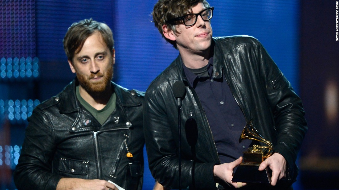 The Black Keys -- guitarist Dan Auerbach, left, and drummer Patrick Carney -- were forced to cancel 17 shows on their upcoming European tour after Carney sustained a shoulder injury. Click through the gallery for more musicians who have canceled shows after injuries.