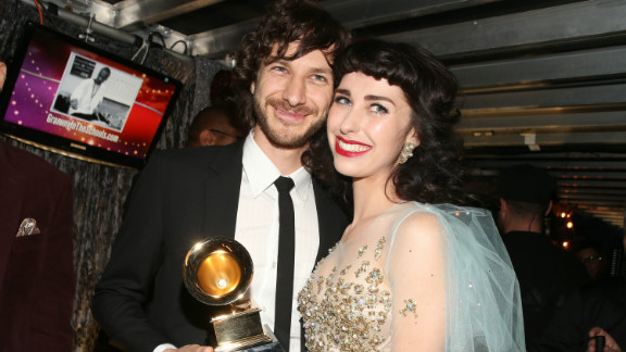 """After declaring, """"I love this song,"""" Prince presented Gotye and Kimbra the Grammy for record of the year for their earworm """"Somebody That I Used To Know."""""""