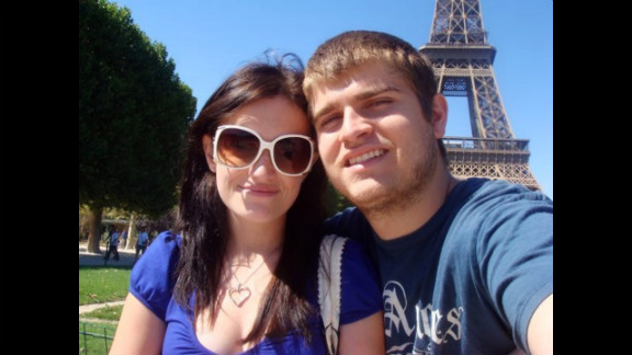 Molly Pearce and boyfriend Corey Eaker in Paris. Pearce was born with Hirschsprung's disease, a rare congenital disorder.