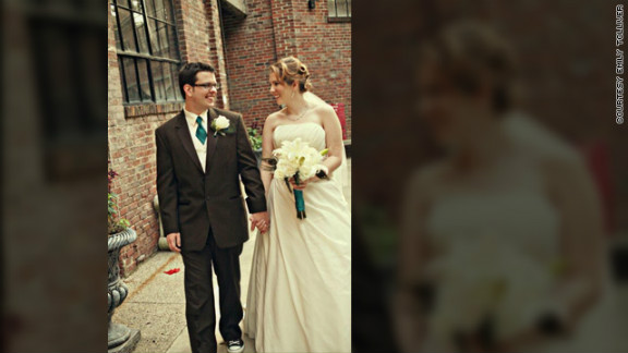 Michelle Granoski says technology enabled her courtship with her husband, Shawn. The couple met on a dating site.
