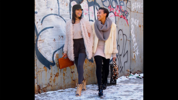 """New York sisters Janelle and Jessica Lloyd of Girls Off Fifth are known for their budget-conscious mixing and matching without being slaves to trends. Typical footnotes to their posts include style tips like pairing a sexy skirt with boyish plaid for """"an instant cool girl vibe,"""" or """"skipping the sea of Isabel Marant"""" imitation wedge sneakers in favor of """"Nike's wedge version of their classic Dunk style."""""""