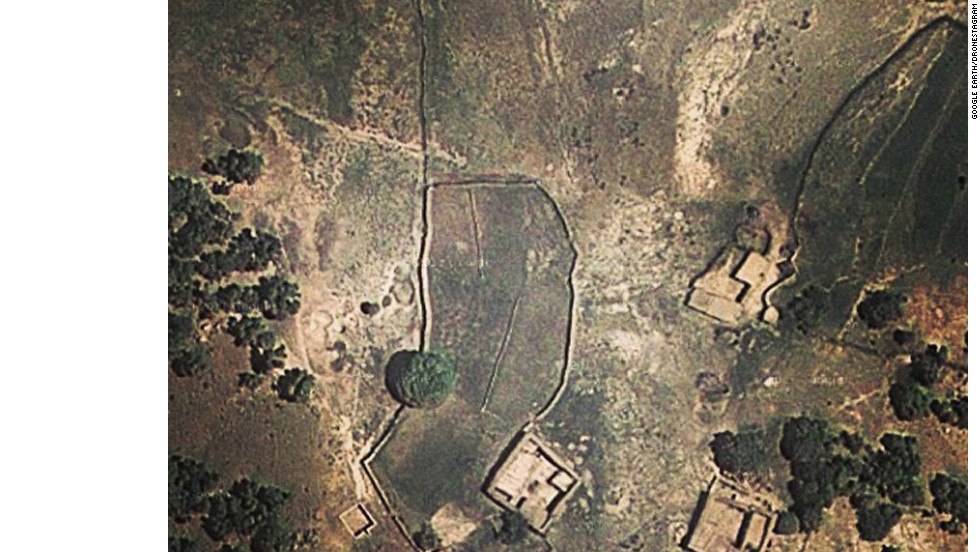 "<a href=""http://dronestagram.tumblr.com/"" target=""_blank"">Dronestagram</a> is a social-media effort to document, using Google Earth images, the locations of deadly U.S. drone strikes. This photo shows a pair of mud-built houses in northwest Pakistan where a drone strike was reported on February 8, according to Dronestagram. Local sources reported six drones hovering in the sky at the time of the attack, the site says."