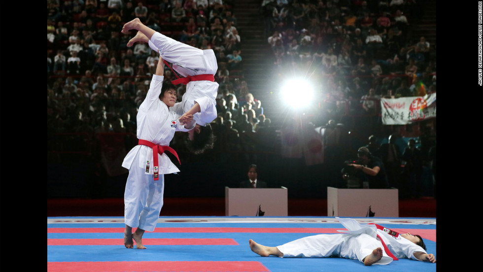 The World Karate Championships are held every two years. The most recent championships had more than 1,000 athletes from 116 countries participating, according to the governing World Karate Federation.