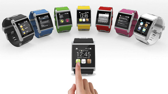 """The Italian-made aluminum <a href=""""http://www.imsmart.com"""" target=""""_blank"""" target=""""_blank"""">I'm Watch</a> is one of the pricier smartwatch options at $399. It comes in seven colors and runs the Droid 2 operating system. It connects to Android smartphones using Bluetooth to get texts and e-mails, check social networks, make calls and see calendar events."""