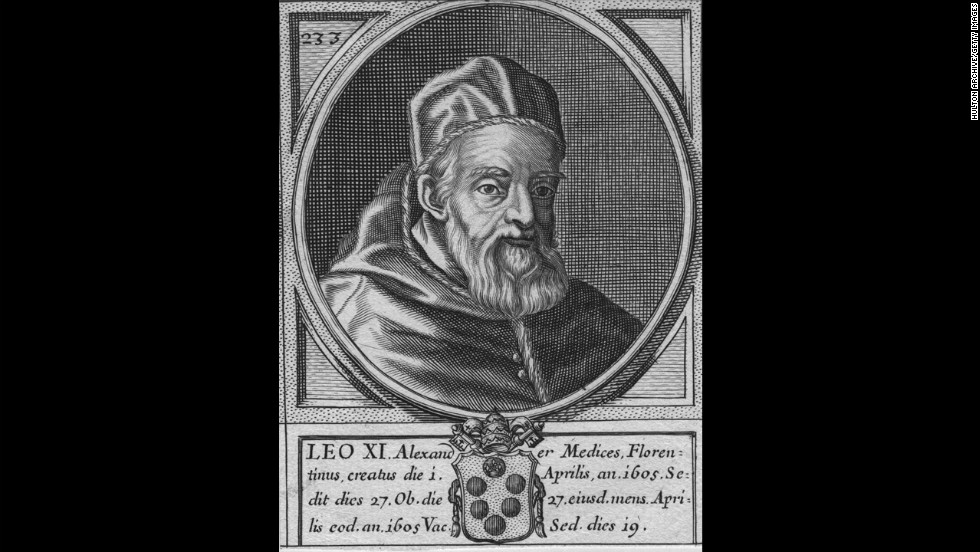 Pope Leo XI also reigned for 27 days in 1605.
