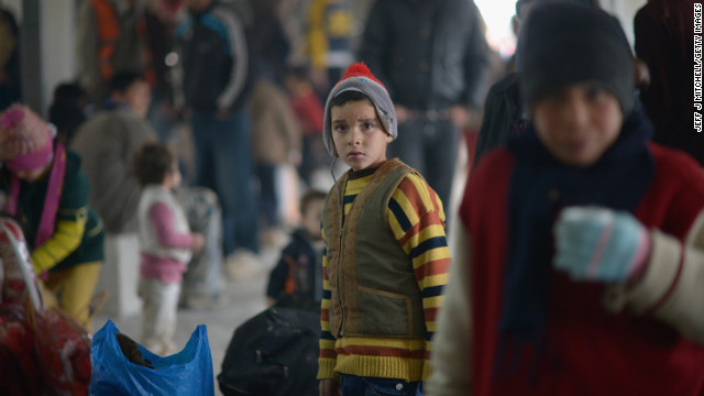 New Syrian refugees arrive at the Za'atari refugee camp on February 1, 2013 in Mafrq, Jordan.