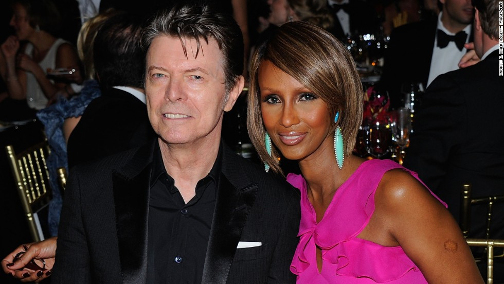 David Bowie and Iman married in 1992. His musical legacy coupled with her modeling career and cosmetics company makes this pair a force with which to be reckoned.