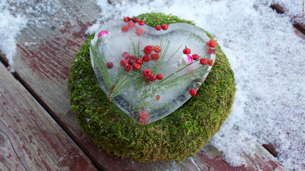 The only thing frosty about this heart crafted with love is the fact that it's made out of ice.