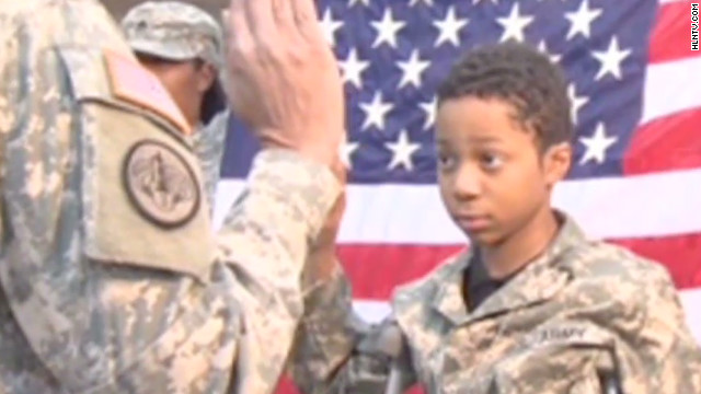 Army dream for boy with cancer