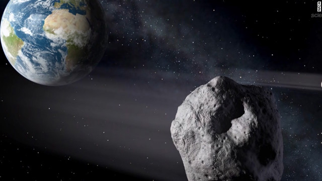 "Asteroid  ""2012 DA14,"" measuring 150 feet wide, passed by Earth on February 15."
