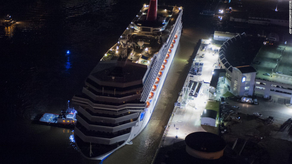 The Triumph will be moved on February 15 to a shipyard at Mobile's port, where it could be repaired. Carnival has canceled more than a dozen of the ship's planned voyages.