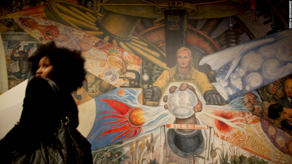 By the 1930s, Rivera's artistic talents and charisma began to attract wealthy American patrons including Abby Aldrich Rockefeller, who convinced her husband, John D. Rockefeller, to commission a Rivera mural for the lobby of the soon-to-be-completed Rockefeller Center in New York. Rivera proposed a portrait of workers facing symbolic crossroads of industry, science, socialism and capitalism, convinced that his relationship with the Rockefeller family would allow him to insert an unapproved representation of Soviet leader Vladimir Lenin into the image. When he refused to remove the offending image, he was barred from the site and the mural was demolished. He later recreated the frescoes in the Palace of Fine Arts in Mexico City.