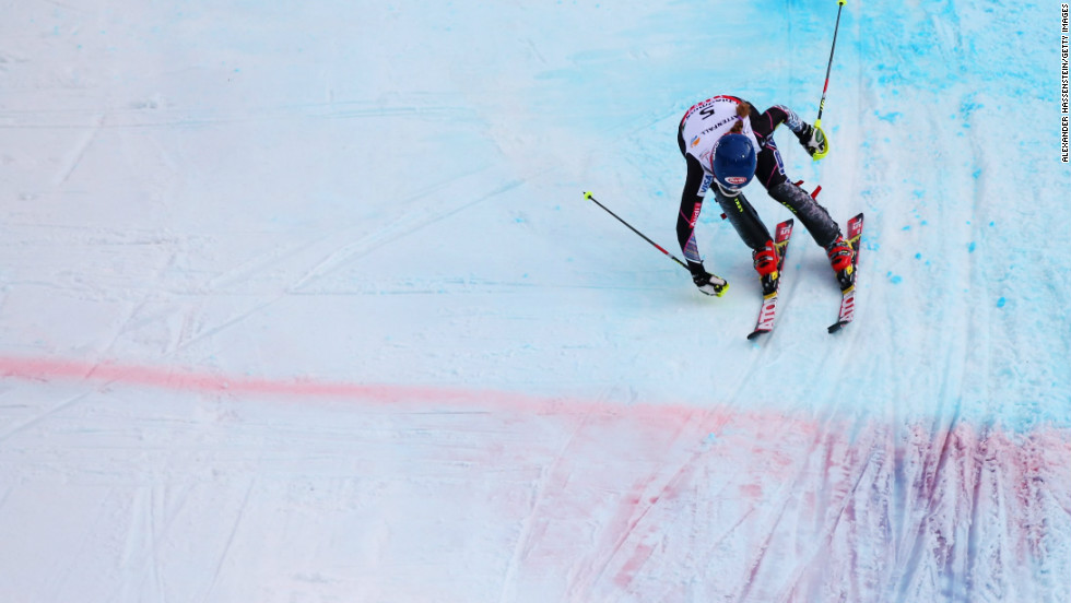 The teenager finished 0.26 seconds ahead of Austria's Michaela Kirchgasser. Sweden's Frida Hansdotter was third.