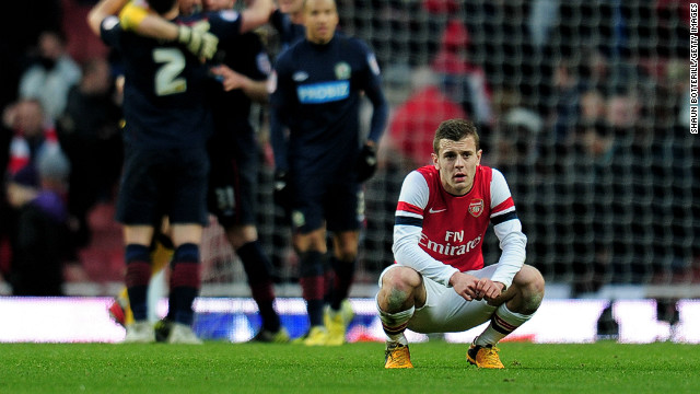 Jack Wilshire ponders another loss to lower-league oppostion as Arsenal exit another domestic cup compettion.