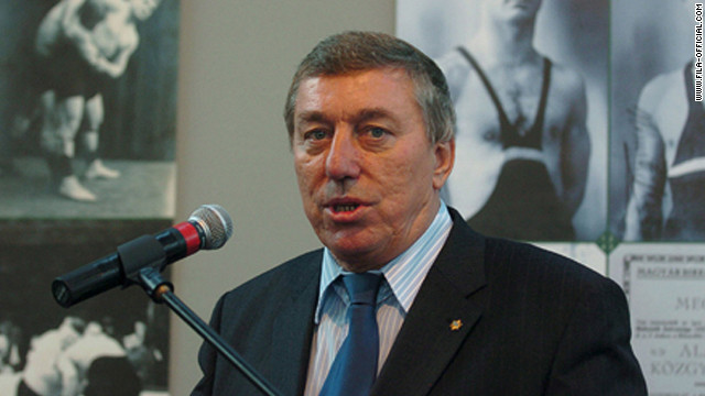 Raphael Martinetti, the president of wrestling's international federation, has resigned.