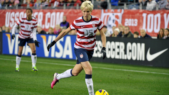 In 2012, U.S. women's soccer player Megan Rapinoe confirmed in Out magazine that she was a lesbian.