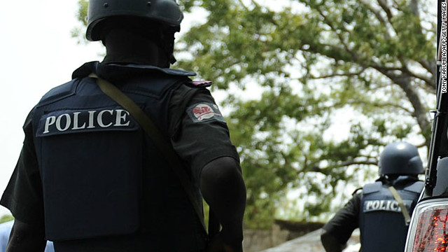 Nigerian police are seen in a file photo taken in northern Nigeria.