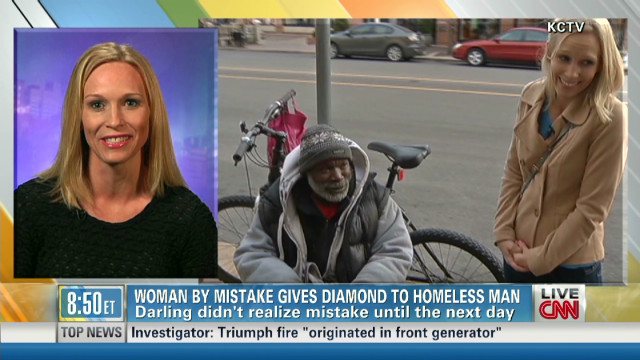 Homeless man returns ring dropped in cup