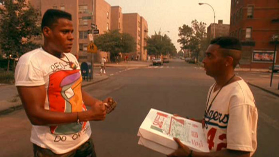 """""""Do the Right Thing,"""" with Bill Nunn, left, and Spike Lee, was one of the most buzzed about movies of 1989 and has been called """"one of the best American films of all time"""" by The New York Times. With only two nominations -- best supporting actor for Danny Aiello and best screenplay -- it came up empty-handed at the Oscars. Director Spike Lee told The Hollywood Reporter in 2011 that he was still annoyed by the slight."""