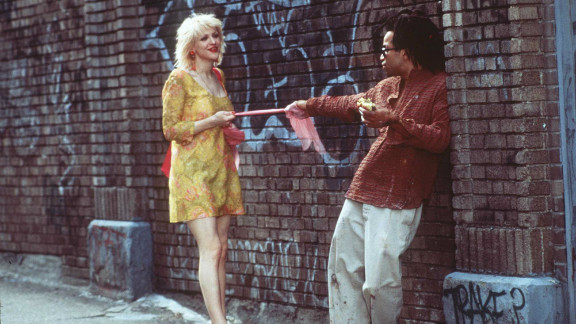 """Many critics noted that Jeffrey Wright, here with Courtney Love, seemed to inhabit the role of the doomed artist Jean-Michel Basquiat in the 1996 biopic """"Basquiat."""" But that acclaim didn't translate into an Oscar nomination."""
