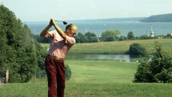 Gerald Ford, the 38th president, enjoyed golf, and even played in tournaments.