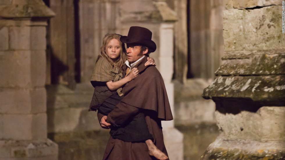 "Paris is one of the big stars in the movie adaptation of ""Les Miserables."" Hugh Jackman plays Jean Valjean, and Isabelle Allen plays a young Cosette."