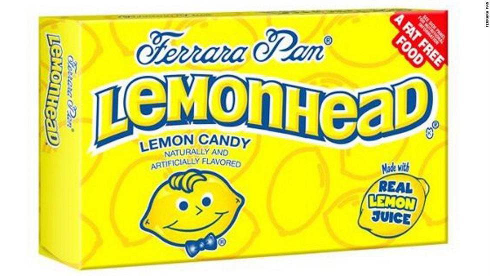 "<strong>Worst sour candy: Lemonheads, 6-ounce box  </strong><br />There are 12 suggested servings in one of these jumbo boxes of chewy candies, ""made with real lemon juice,"" adding up to 600 calories total. They're also made with sugar -- lots of it: Each box has 132 grams!<br /><a href=""http://www.health.com/health/gallery/0,,20551987,00.html?xid=cnn"" target=""_blank""><br />Health.com: Best and worst foods for digestion</a>"