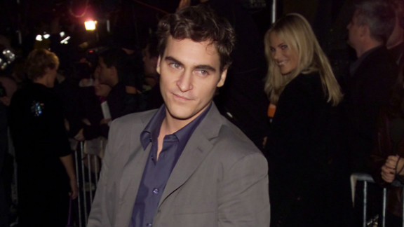 "Joaquin Phoenix, who used to go by the name Leaf, has been acting for more than 30 years. Phoenix, pictured here at an event in New York City in 2000, gained critical acclaim for his role as Commodus in ""Gladiator"" that same year. He received an Oscar nod for best supporting actor, but lost the statue to Benicio del Toro (""Traffic"")."
