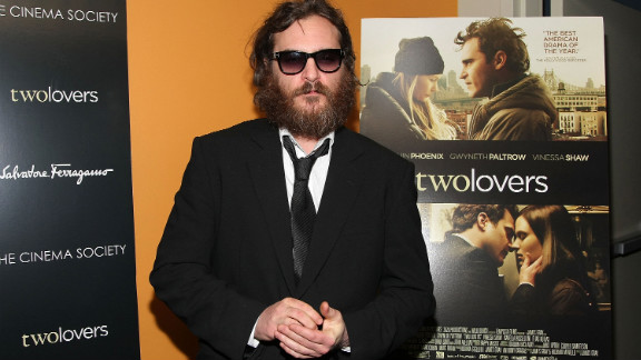 "The actor, 38, shown here in his ""I'm Still Here"" phase attending a screening of ""Two Lovers"" in 2009, earned his second Academy Award nomination for his portrayal of Johnny Cash in 2005's ""Walk the Line."""