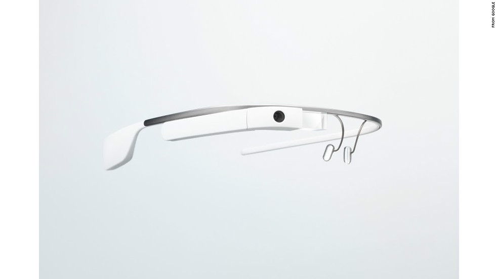 Google Glass features a camera mounted on the right side.