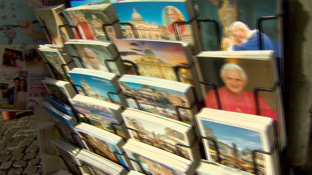 Pope's popularity on display in market