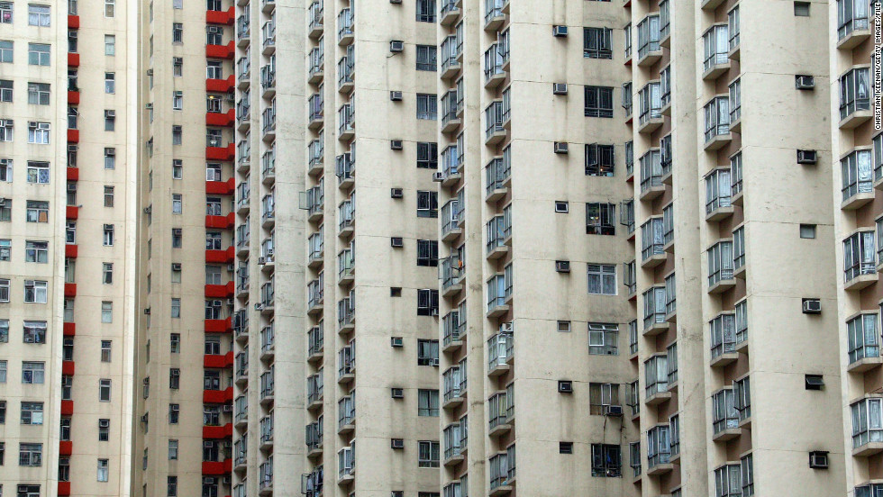 The Amoy Gardens housing complex was a hub of the outbreak in Hong Kong, where over 300 people were infected.