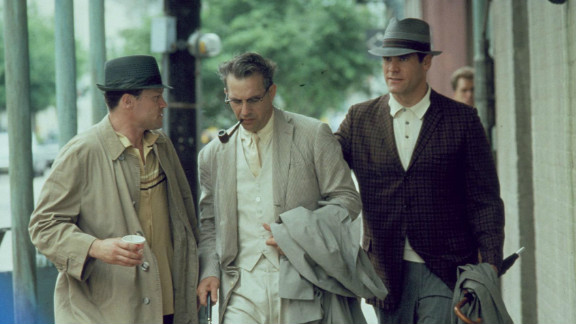 """Kevin Costner, center, played district attorney Jim Garrison with Michael Rooker, and Jay O. Sanders in """"JFK,"""" directed by Oliver Stone. """"I have no opinion on the factual accuracy of his 1991 film"""