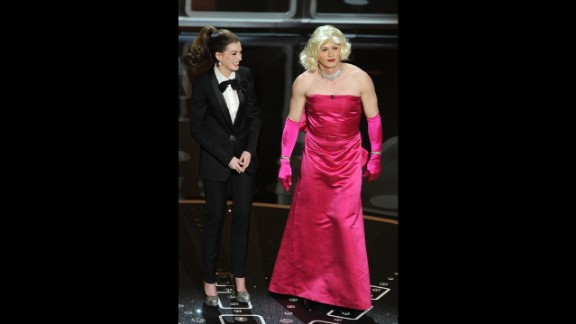 "Anne Hathaway and James Franco are two of the most awkward hosts in the history of the Academy Awards. Hathaway got flak for trying too hard, while Franco was criticized for having his head in the clouds. ""The worst Oscarcast I've seen, and I go back awhile,"" the late Roger Ebert tweeted at the time. ""Some great winners, a nice distribution of awards, but the show? Dead. In. The. Water."" Let's see how they stack up against hosts of Oscars past."